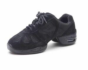 Skazz by Sansha Low Top Hi-Step P40 Black Canvas Dance Sneakers, Size 3