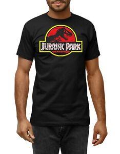 Jurassic Park Inspired Unisex Black Distressed T-Shirt Dinosaur T-rex Movie Top