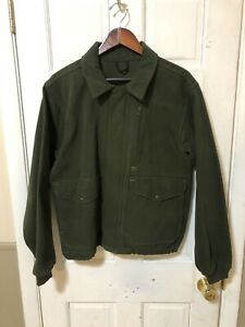 Filson Army Green Moleskin Coat Style# 893 Men's Size Medium Made In USA