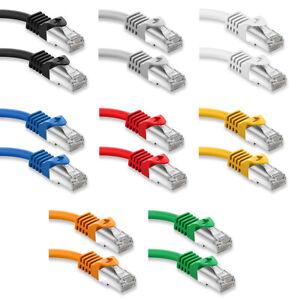 CAT 7 Patchkabel Netzwerkkabel RJ45 LAN DSL Ethernet Netzwerk Kabel 0,25m - 50m