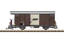 brandneu LGB gedeckter Güterwagen der RhB Artikelnummer 43813