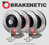 [F&R] BRAKENETIC PREMIUM GT SLOT Brake Rotors + Ceramic Pads w/AKEBONO BPK90185