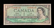 1954 Canadian $1 Dollar Bill -  Beattie/Rasminsky - BC-37bA - *S/O (BB#1211)