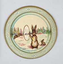 Original Victorian Trade Card Jaques Extracts Bunnies Jumping Thru Hoops Rabbit