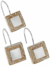 Carnation Home Fashions Lakewood Ceramic Resin Shower Curtain Hook Silver