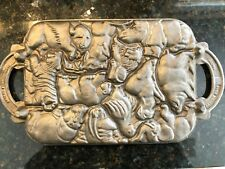 John Wright Cast Iron ANIMAL PUZZLE Mold ~ cooking collectible cookies candy