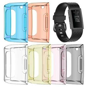 Compatible TPU Protection Silicone Case Screen Protector for Fitbit Charge 3