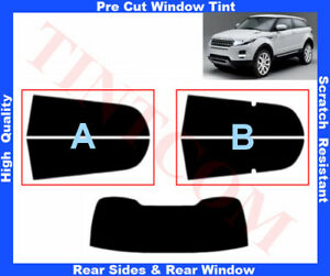 Land Rover Evoque 3D 2011-... Pre-Cut Window Tint 5%-50% Rear Window& Rear Sides