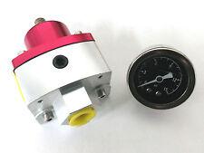 4.5 To 9 PSI Billet Adjustiable Fuel Pressure Regulator W/ Gauge SBC BBC Ford