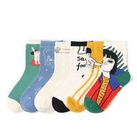 2018 Fashion Unisex Painting Art Novelty Starry Night Vintage Retro Cotton Socks