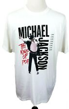 New Micheal Jackson The King Of Pop Mens XL White T-Shirt M7