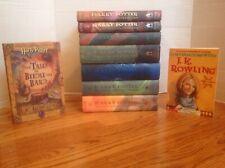 Lot 9 HARRY POTTER Books Complete 1-7 HBDJ Beedle the Bard + J.K. Rowling VGC