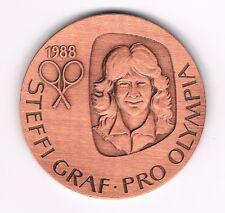 Medaille  Steffi Graf  1988  Pro Olympia  Tennis (2)   (Album 1)