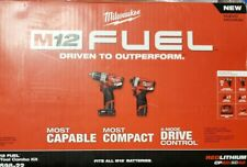 Milwaukee 2598-22 M12 FUEL 2-Tool Combo Kit: 1/2 In. Hammer Drill and Impact