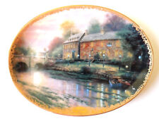 "Thomas Kinkade ""Lamplight Inn"" Bradford Exchange Plate #14059C w/ Coa"
