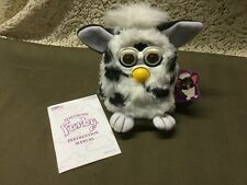 1998,70-800, Black Spots & White FURBY, Instruction Manual, Original tags, CLEAN