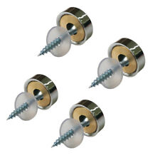 Chrome plated Steel Screw Cover Cap Fasteners Decorative Standoff Sign Hardware