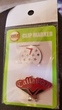 Callaway Ball Marker / Hat Clip (2 pc) Brand New * Sealed great for junior golf