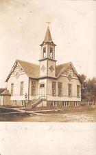 Washburn Illinois~Christian Church~Going Here Tomorrow~Looks Like All~1908 RPPC