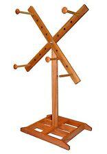 Yarn Swift Large Windmill Style Floor Standing Swift - Handcrafted From Red Oak