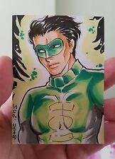 GREEN LANTERN MANGA STYLE HAND DRAWN SKETCH ART CARD PSC BY SANNA U DC COMICS
