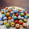 100pcs/Set 6mm Vintage Loose Ceramic Porcelain Beads Charms For Jewelry Making