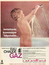 Publicité 1965  EAU CHAUDE GAZ