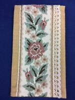 Vintage Embroidered Flowers White Lace Wallet Case Holder Pouch Coin Purse