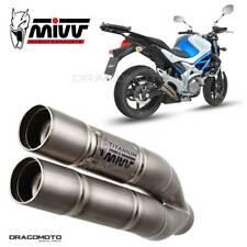 SUZUKI GLADIUS Exhaust MIVV Double Gun 2009-2015 Titanium