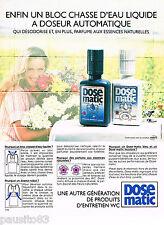 PUBLICITE ADVERTISING 065  1984  EPARCO le DOSE-MATIC bloc chasse d'eau liquide