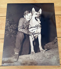 TED DONALDSON 8X10 B&W AUTOGRAPHED PHOTO w/FLAME From The RUSTY Movies