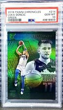 2018 Chronicles Luka Doncic #214 RC PSA 10 Gem Rookie Green Holo SP *Low Pop*
