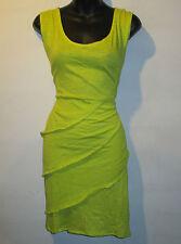 Dress Fits S M L Sexy Mini Yellow Sexy Stretch Cotton Tee Shirt NWT BV601