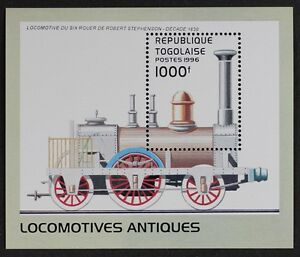 Z475 TOGO 1996 Early Locomotives Stephenson, Trains S/S Mint NH