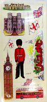 England Big Ben Buckingham Palace Guard Dbl Bus Stamping Station Clear Stickers