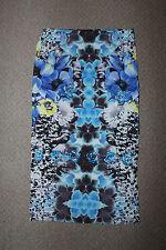 Topshop blue flower midi skirt size 8
