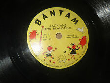 78RPM Bantam br 6 (RARE) Sandy Walker, Jack and Beanstalk / Cinderella clean V