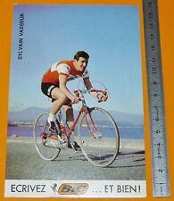 RARE CARTE CYCLISME 1972 EQUIPE BIC SYLVAIN VASSEUR TOUR DE FRANCE COUREUR