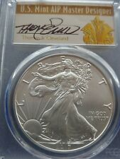 2017-W CLEVELAND FIRST DAY ISSUE! HAND SIGNED SP70 BURNISHED SILVER EAGLE PCGS