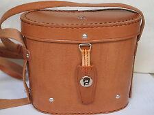 Cuero prismáticos/aljaba bolso para 8x30 prismáticos, binoculares, marrón