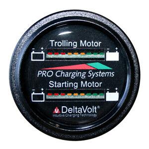 Dual Pro Battery Fuel Gauge - Marine Dual Read Battery Monitor - 12V/36V System