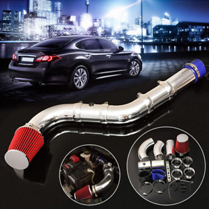 Car Engine Filter Air Intake System W/ Adjustable Aluminium Injection Pipe Kit