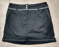 Adidas Climacool Women's Black Skort Skirt w/ Shorts Tennis Size 10