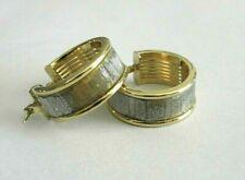 BOUCLES D'OREILLE OR 9 carats, 375, Défauts, créoles laque pailletée, bijouterie