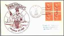 OAS-CNY 4835 NAVAL COVER USS TANNER NAVY DAY 1947