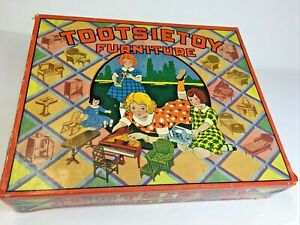 Rare 1920's  TOOTSIETOY Furniture Box. Empty Box, great for Collection Display