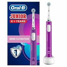 Oral-B Junior Kids Electric Rechargeable Toothbrush Purple Children Aged 6+
