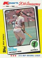 Pete Rose 1982 Topps Kmart MVP Series #24 Cincinnati Reds Baseball Card