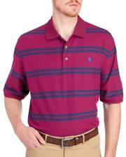IZOD Big and Tall Mens Red Blue Striped Sport Flex Polo Shirt NWT $55 Size 2XL