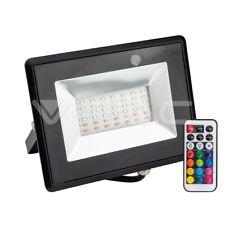 FARO LED V-TAC RGB PROIETTORE A LED MULTICOLORE 30W DA ESTERNO IP65 TELECOMANDO